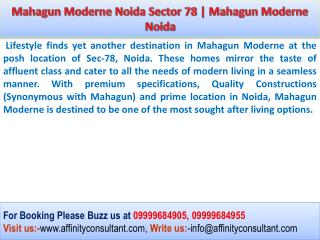 Mahagun Moderne Noida Original Booking open Mahagun Moderne