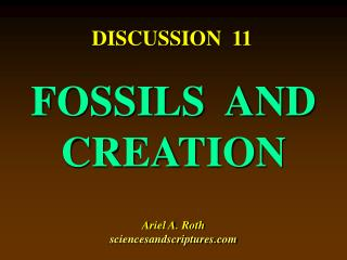 FOSSILS  AND CREATION Ariel A. Roth sciencesandscriptures