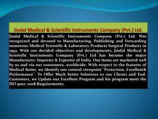 Scientific Equipments Manufacturers