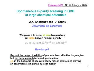 Spontaneous P-parity breaking in QCD           at large chemical potentials