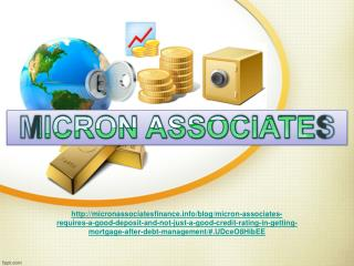 Micron Associates requires a good deposit and not just a goo