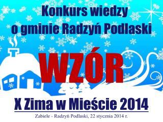 Konkurs wiedzy o gminie Radzyń Podlaski WZÓR