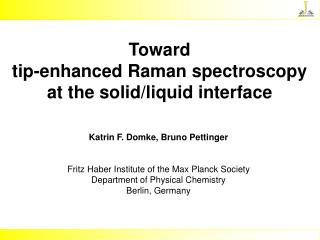 Toward tip-enhanced Raman spectroscopy at the solid/liquid interface