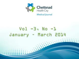 Vol -3, No -1 January – March 2014