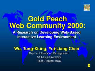 Gold Peach  Web Community 2000: