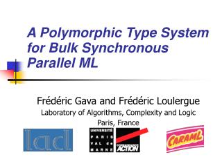 A Polymorphic Type System for Bulk Synchronous Parallel ML