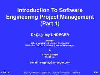Introduction To Software Engineering Project Management (Part 1)