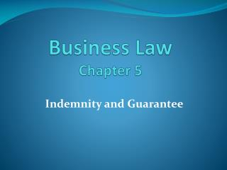 Business Law Chapter 5