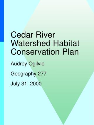 Cedar River Watershed Habitat Conservation Plan