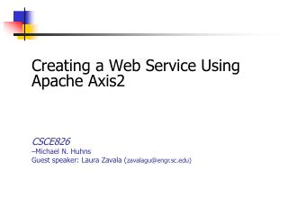 Creating a Web Service Using Apache Axis2