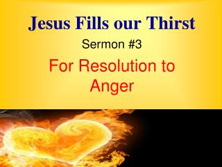 Jesus Fills our Thirst