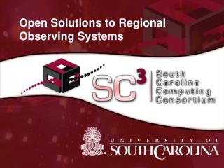 Open Solutions to Regional Observing Systems