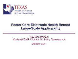 Foster Care Electronic Health Record Large-Scale Applicability