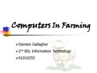 Computers In Farming