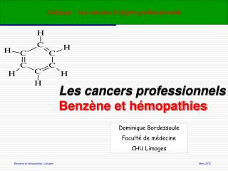 Colloque :  les cancers d'origine professionnelle