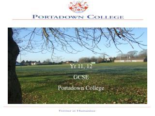 Yr 11, 12 GCSE Portadown College