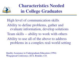 Characteristics Needed in College Graduates