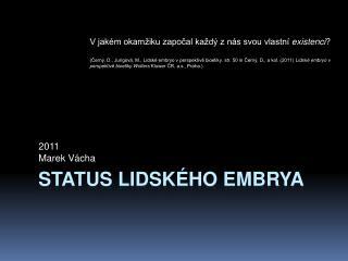 Status lidského embrya