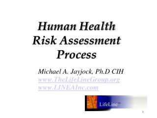 Human Health  Risk Assessment  Process