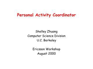 Personal Activity Coordinator