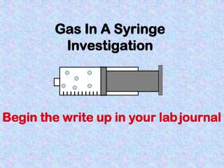 Gas In A Syringe Investigation