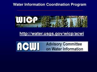 Water Information Coordination Program