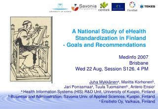 A National Study of eHealth Standardization in Finland - Goals and Recommendations