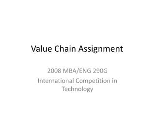 Value Chain Assignment