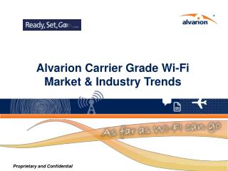 Alvarion Carrier Grade Wi-Fi Market & Industry Trends
