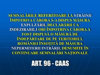 ART. 9 6 - CAAS