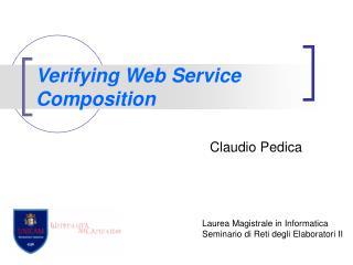 Verifying Web Service Composition