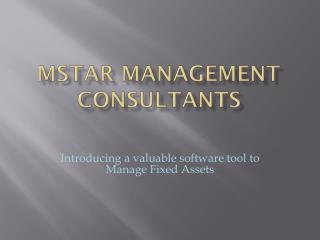 Mstar management consultants