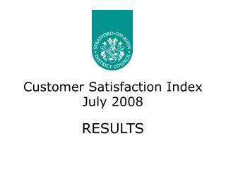 Customer Satisfaction Index July 2008
