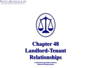 Chapter 48 Landlord-Tenant  Relationships