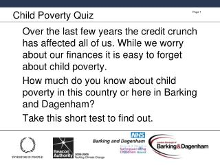Child Poverty Quiz
