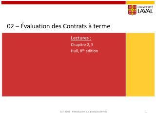 02 – Évaluation des Contrats à terme