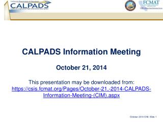 CALPADS Information Meeting