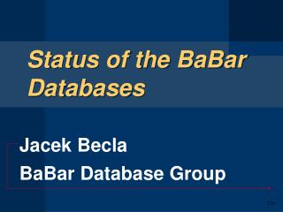 Status of the BaBar Databases
