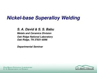 Nickel-base Superalloy Welding