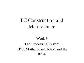 PC Construction and Maintenance