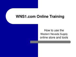WNS1 Online Training