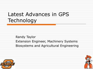 Latest Advances in GPS Technology