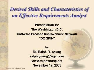 Desired Skills and Characteristics of an Effective Requirements Analyst
