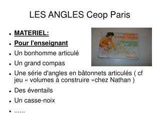 LES ANGLES Ceop Paris