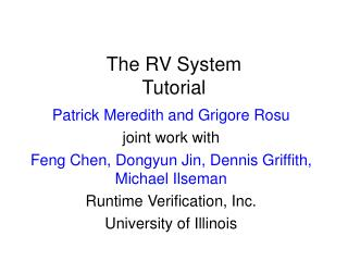 The RV System Tutorial