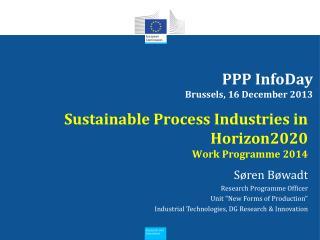 PPP InfoDay Brussels, 16 December 2013
