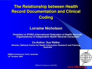 The Relationship between Health Record Documentation and Clinical Coding