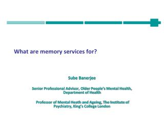 What are memory services for?