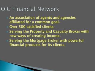 OIC Financial Network