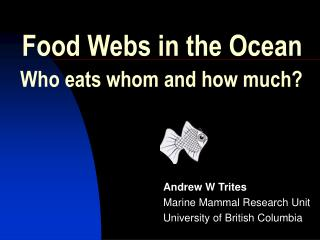 Food Webs in the Ocean